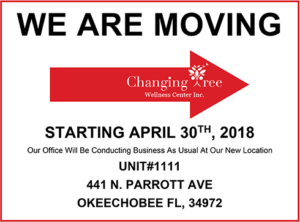 Changing Tree Center is Moving April 30th 2018